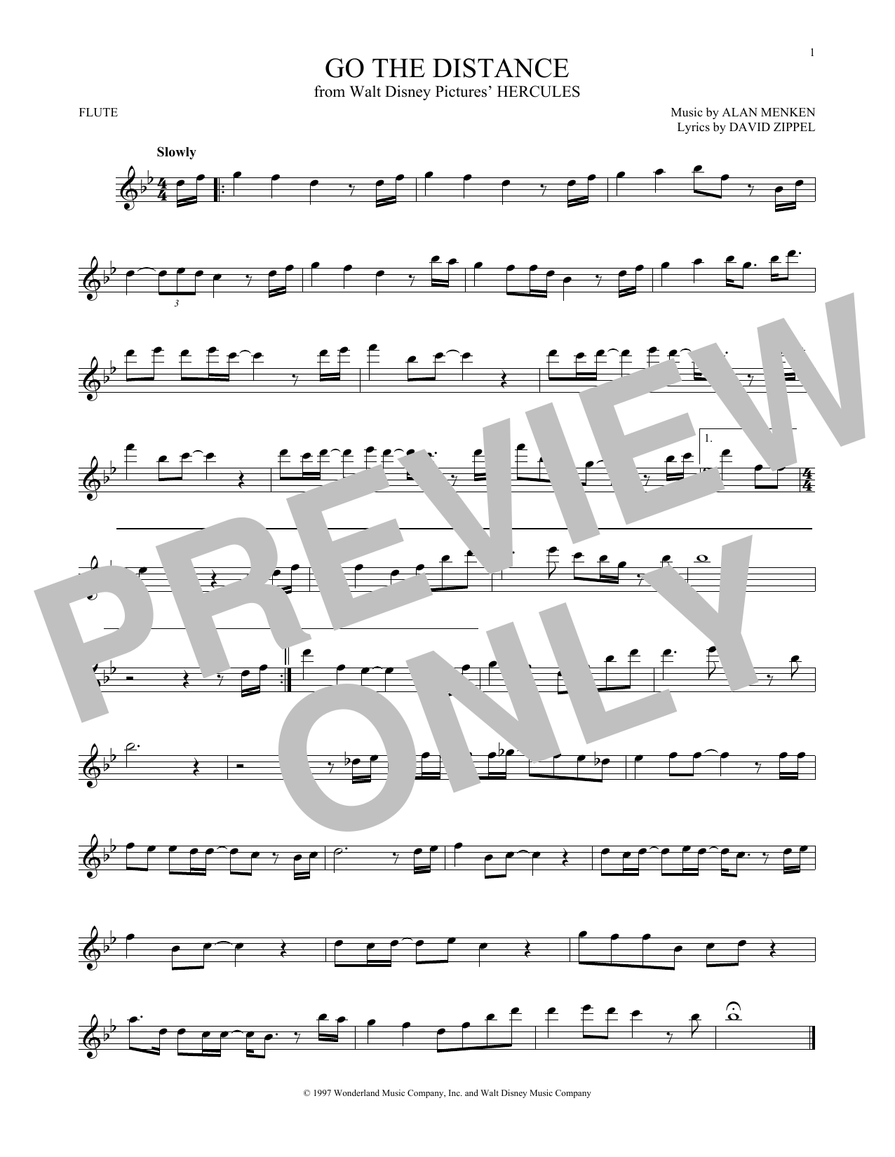 Michael Bolton Go The Distance Sheet Music Notes Chords
