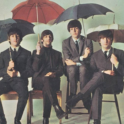 The Beatles, Rain, Piano, Vocal & Guitar (Right-Hand Melody)