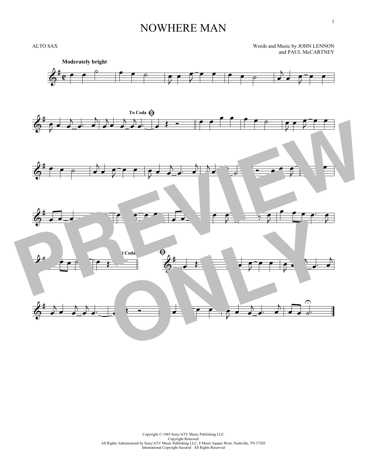 The Beatles Nowhere Man Sheet Music Notes Chords Printable Rock