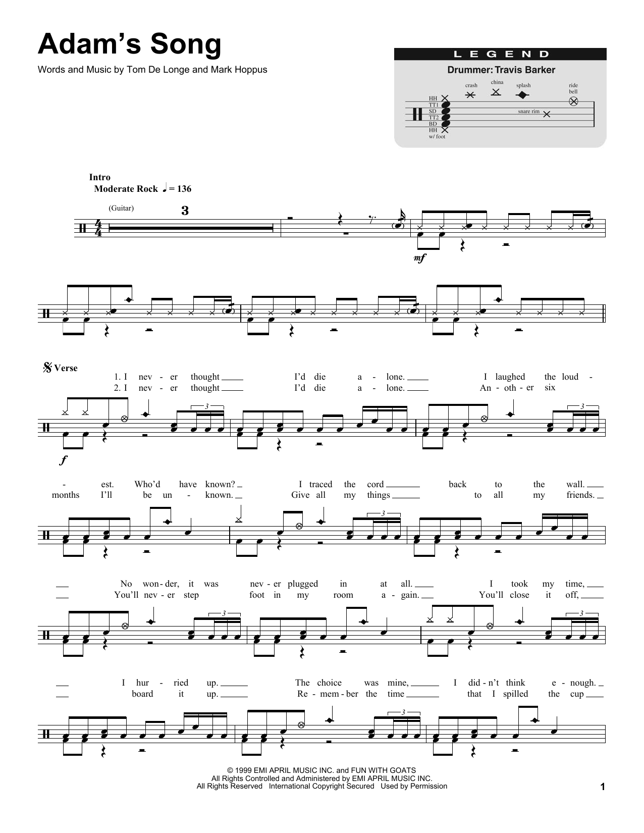 Blink 182 Adams Song Guitar Chords Picture Gallery