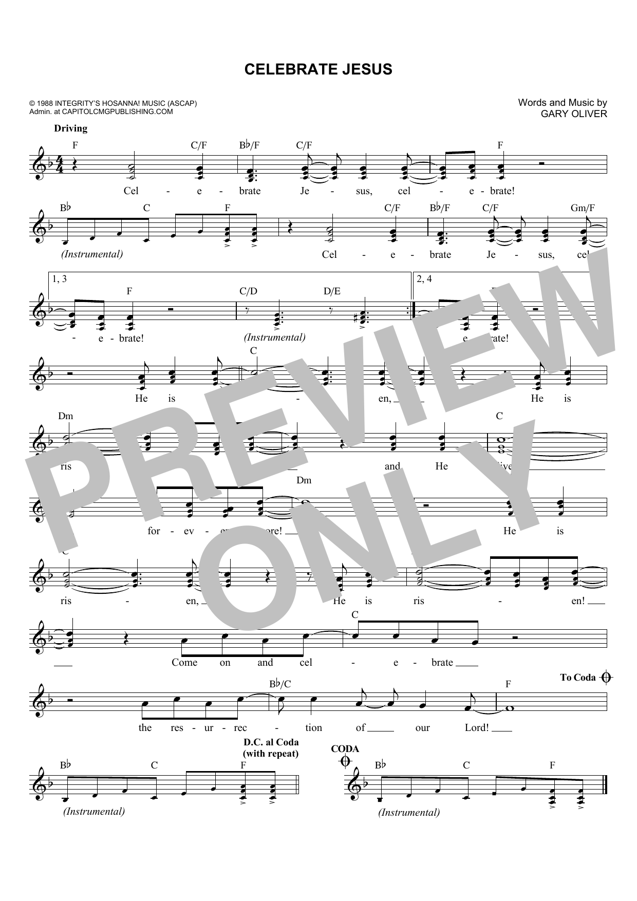 Don Moen Celebrate Jesus Sheet Music Notes Chords Printable