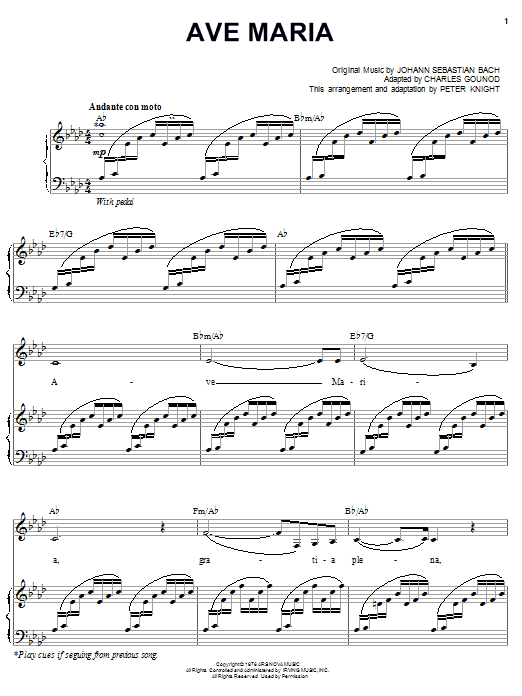 Carpenters Ave Maria Sheet Music Notes Chords Printable Pop