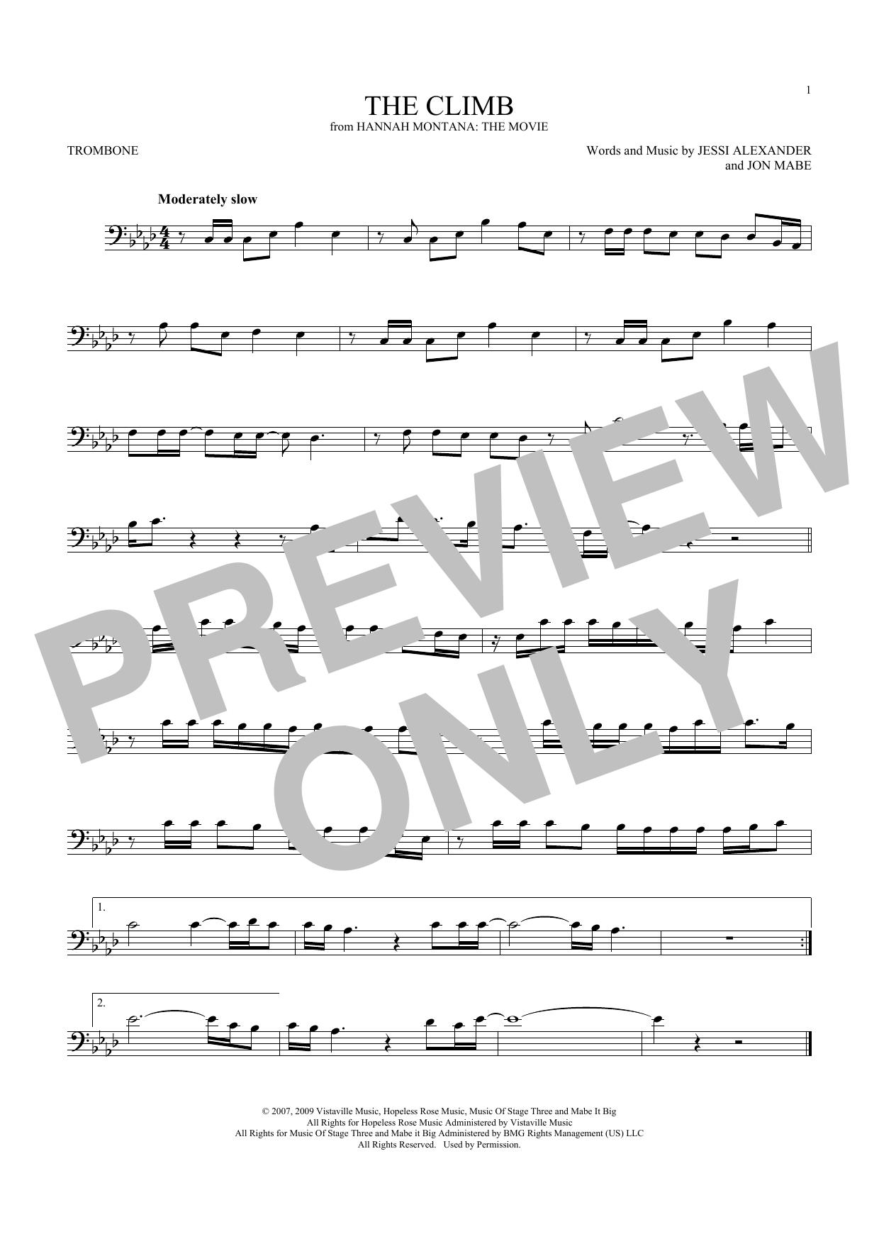 Miley Cyrus The Climb Sheet Music Notes Chords Printable Rock