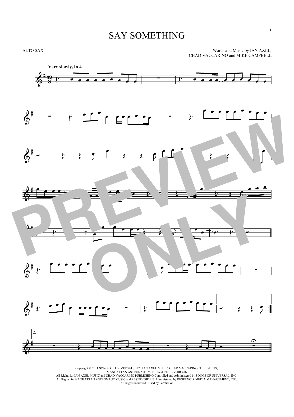A Great Big World Say Something Sheet Music Notes Chords