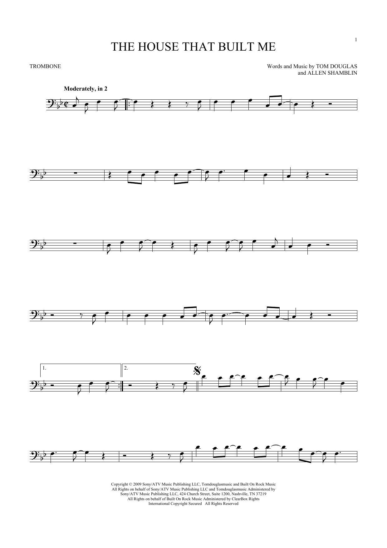Miranda Lambert The House That Built Me Sheet Music Notes Chords