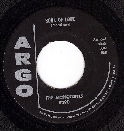 The Monotones, Book Of Love, Piano, Vocal & Guitar (Right-Hand Melody)