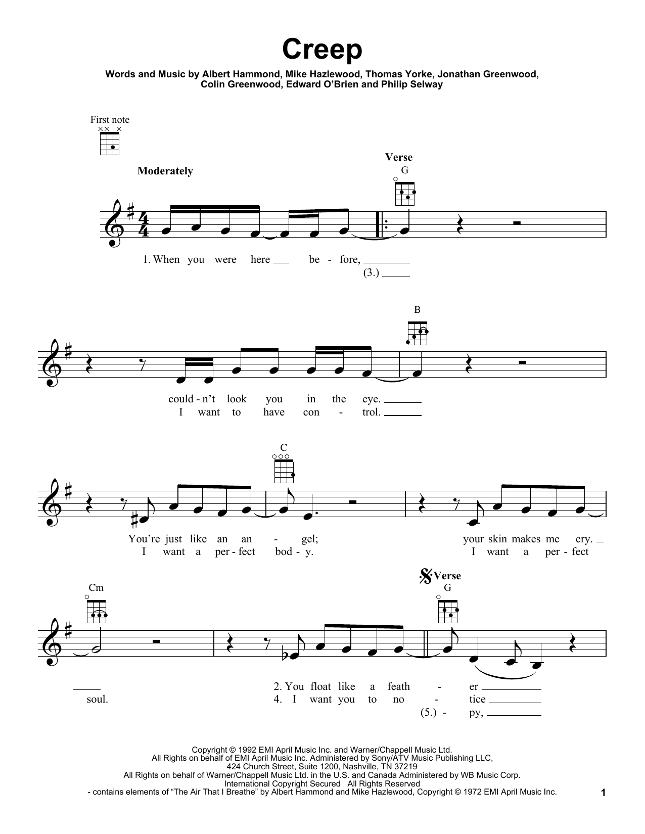 Creep Guitar Chords Gallery Piano Chord Chart With Finger Positions