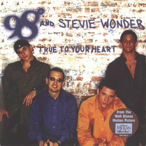 98 Degrees, True To Your Heart (Pop Version) (feat. Stevie Wonder), Piano, Vocal & Guitar (Right-Hand Melody)