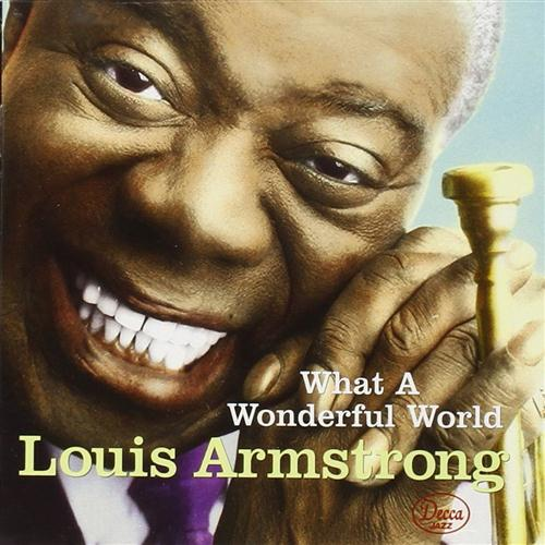 Louis Armstrong, What A Wonderful World, Piano, Vocal & Guitar (Right-Hand Melody)