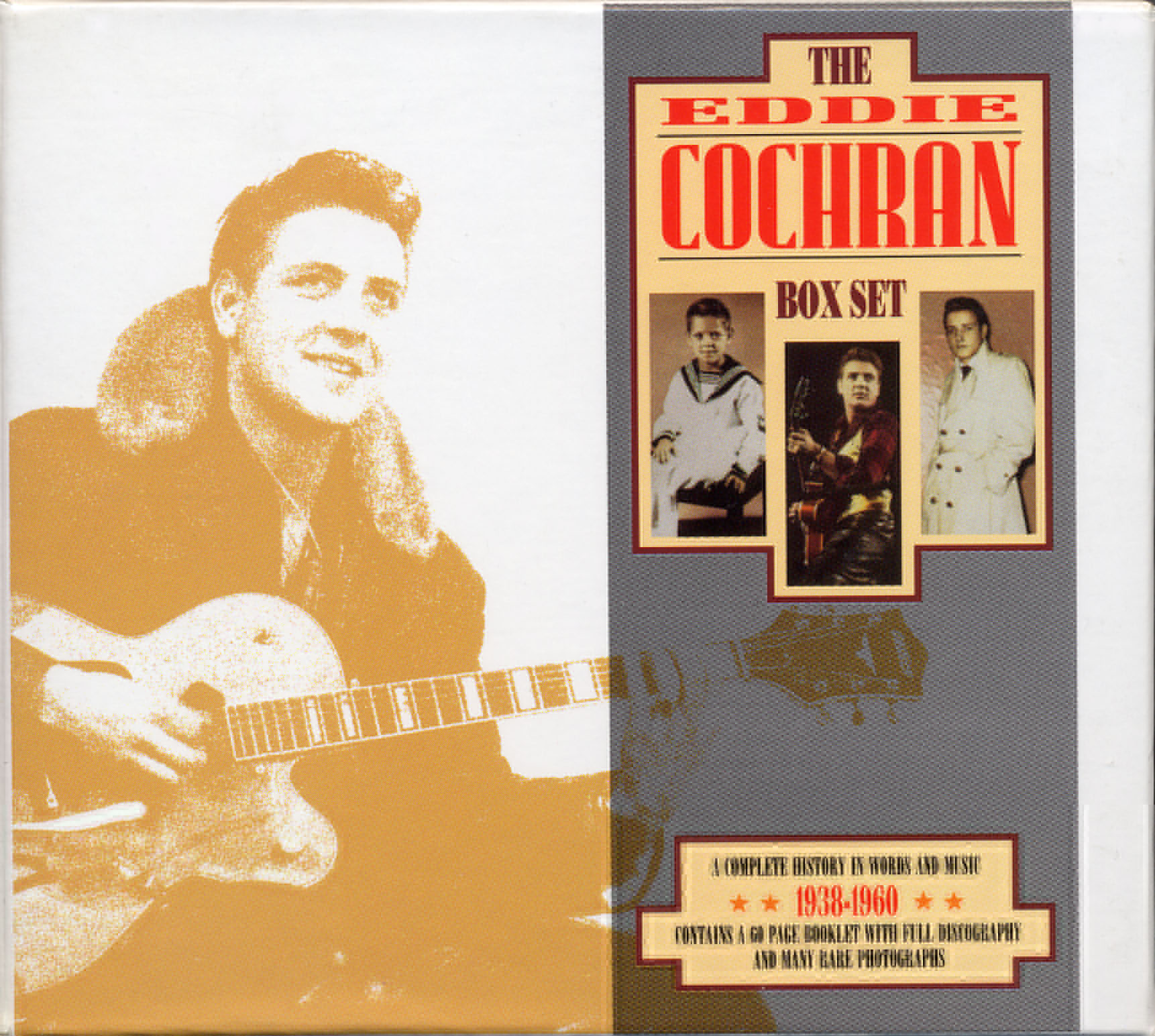 Eddie Cochran, Three Stars, Piano, Vocal & Guitar (Right-Hand Melody)