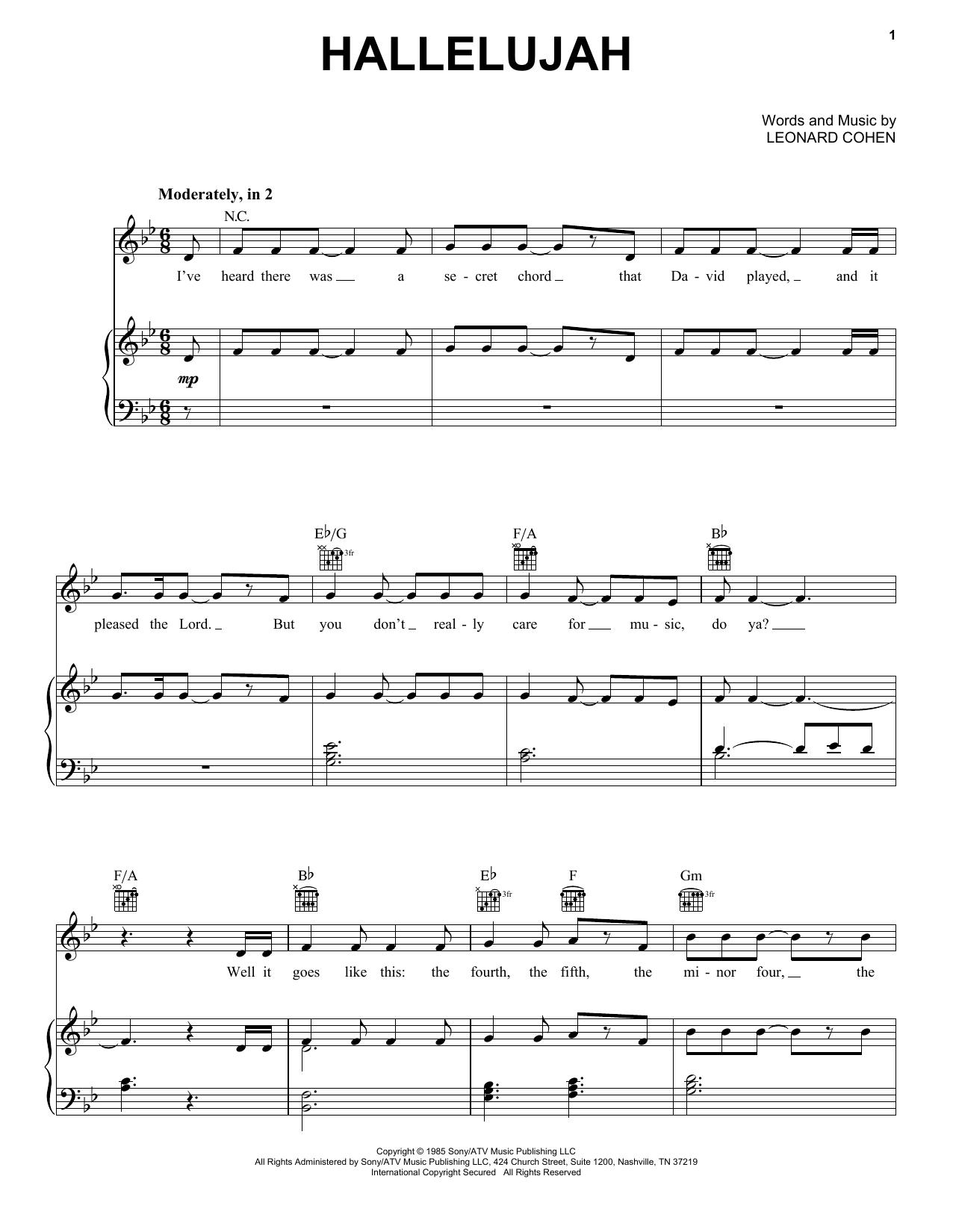 Pentatonix Hallelujah Sheet Music Notes Chords Printable A