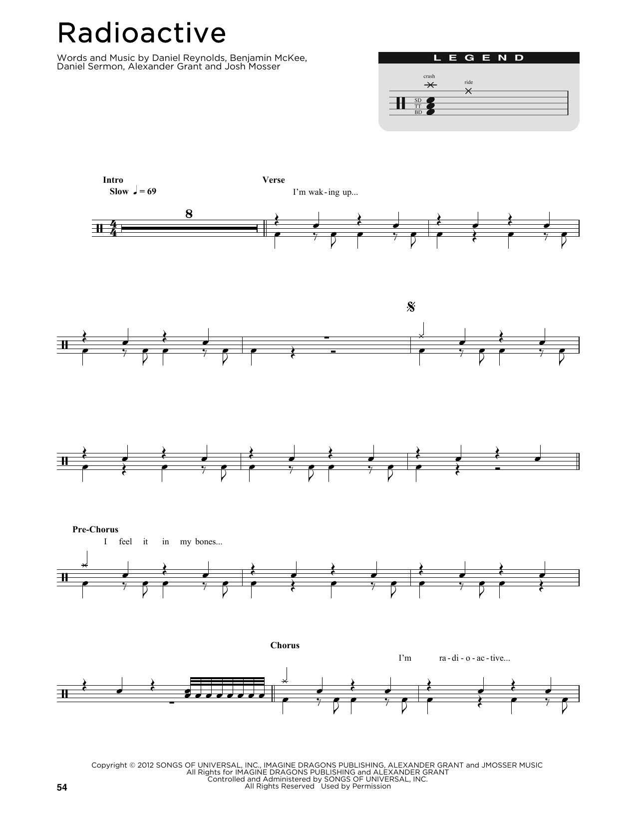 Imagine Dragons Radioactive Sheet Music Notes Chords Printable