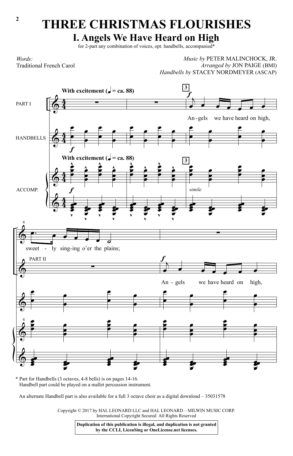 Jon Paige Angels We Have Heard On High Sheet Music Notes Chords