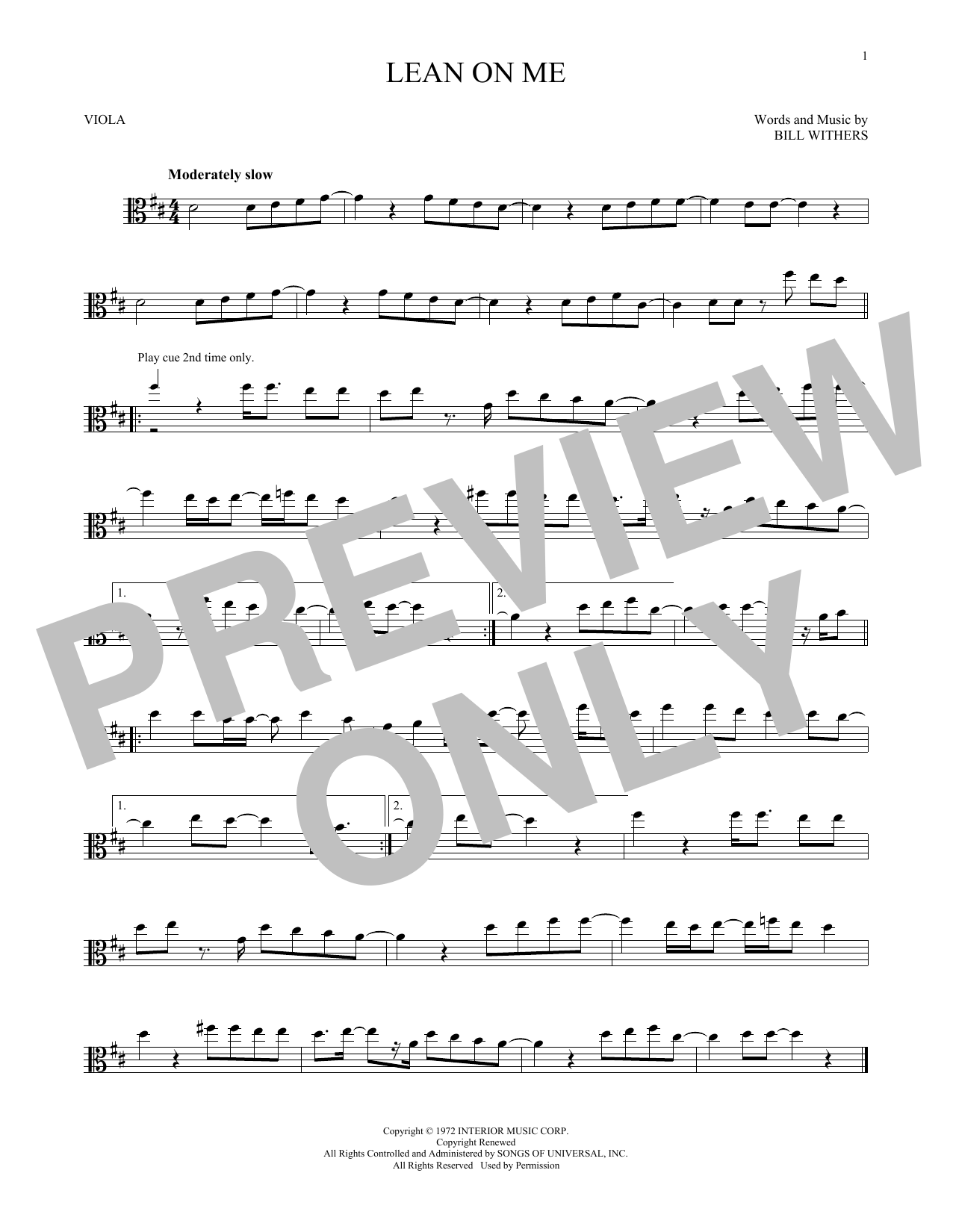 Bill Withers Lean On Me Sheet Music Notes Chords Printable
