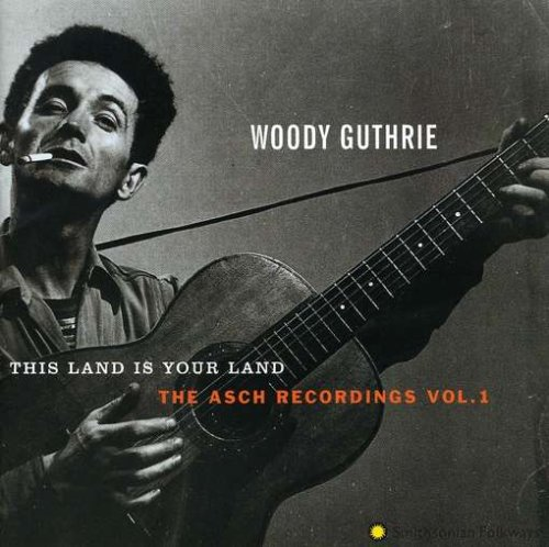 Woody Guthrie, This Land Is Your Land, Piano, Vocal & Guitar (Right-Hand Melody)