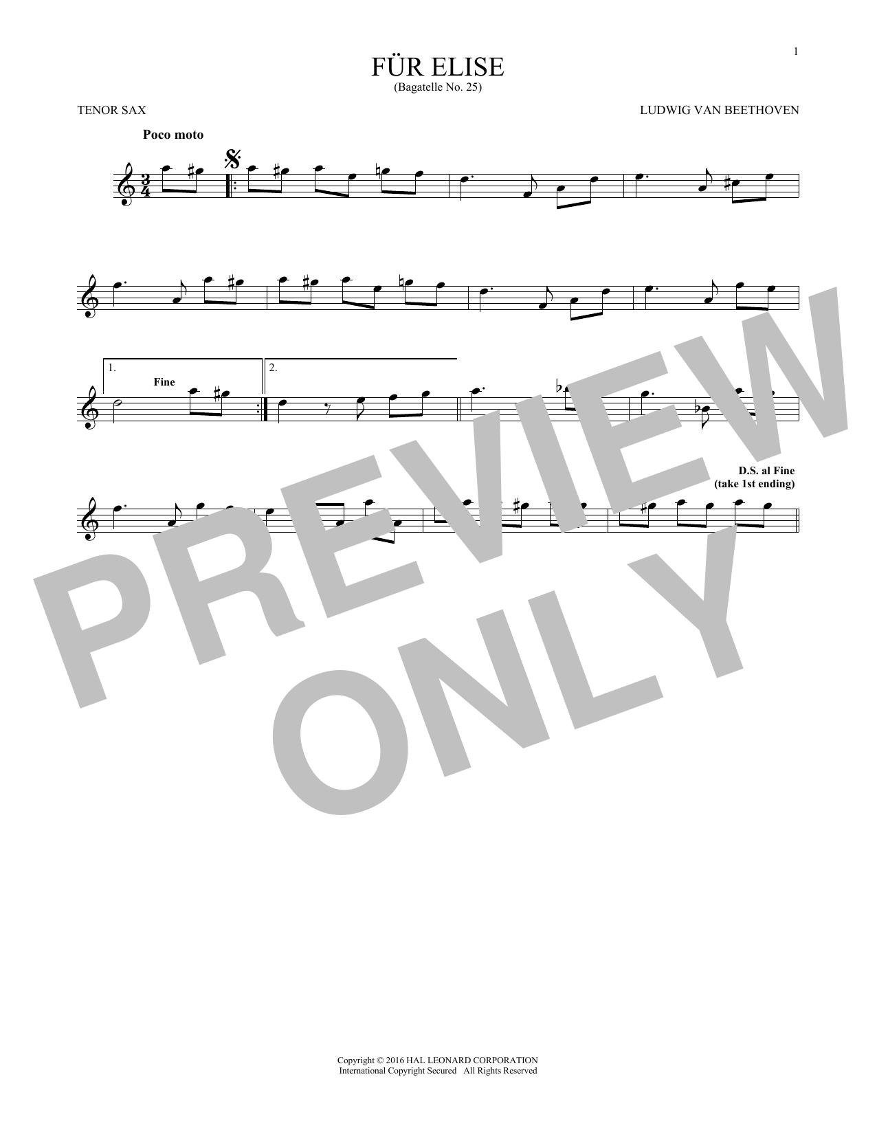 Ludwig Van Beethoven Fur Elise Woo 59 Sheet Music Notes Chords