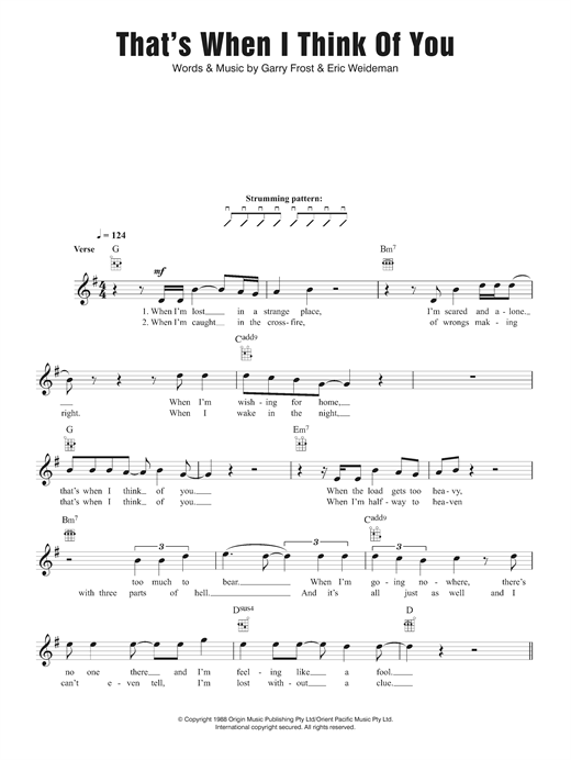 1927 That's When I Think Of You sheet music notes and chords. Download Printable PDF.