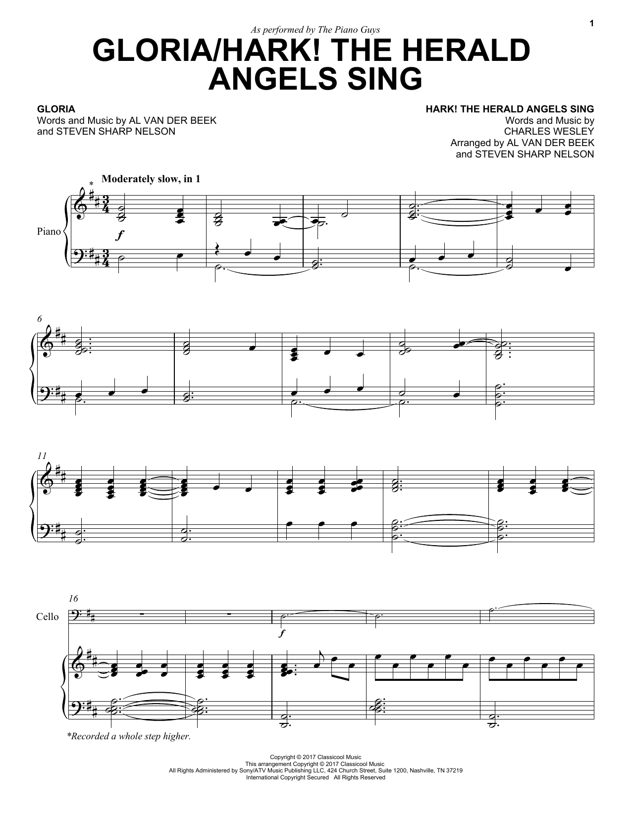 The Piano Guys Gloriahark The Herald Angels Sing Sheet Music