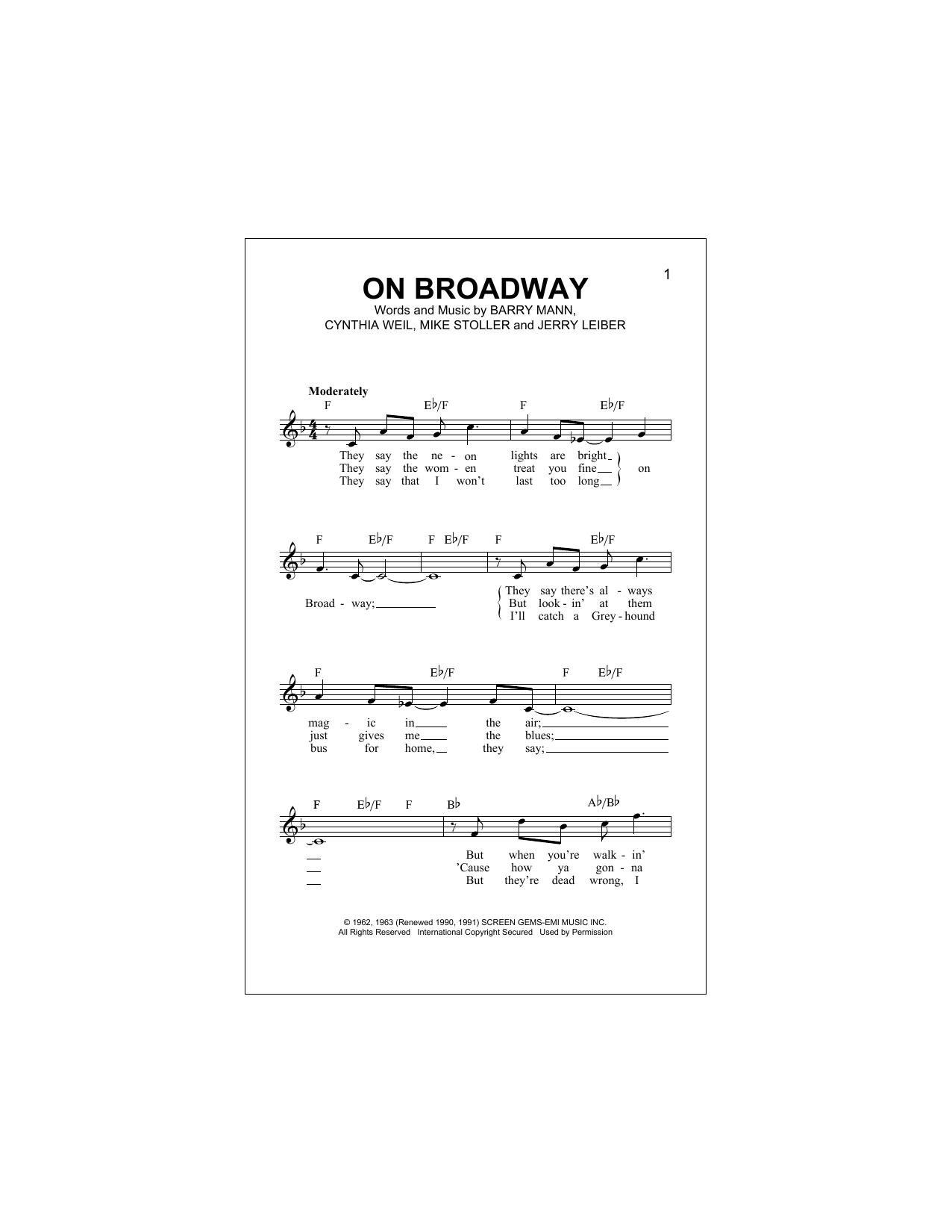 George Benson On Broadway Sheet Music Notes Chords Printable