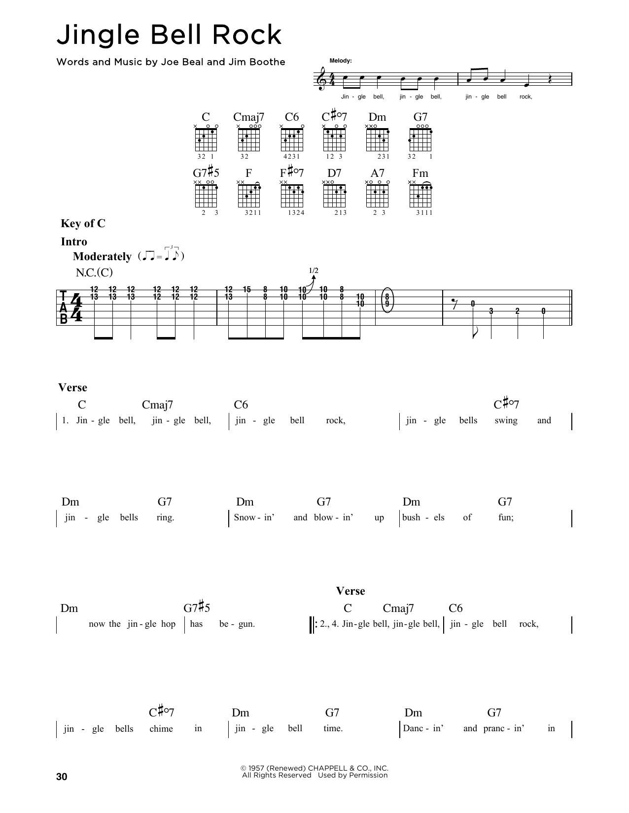 Bobby Helms Jingle Bell Rock Sheet Music Notes Chords Printable