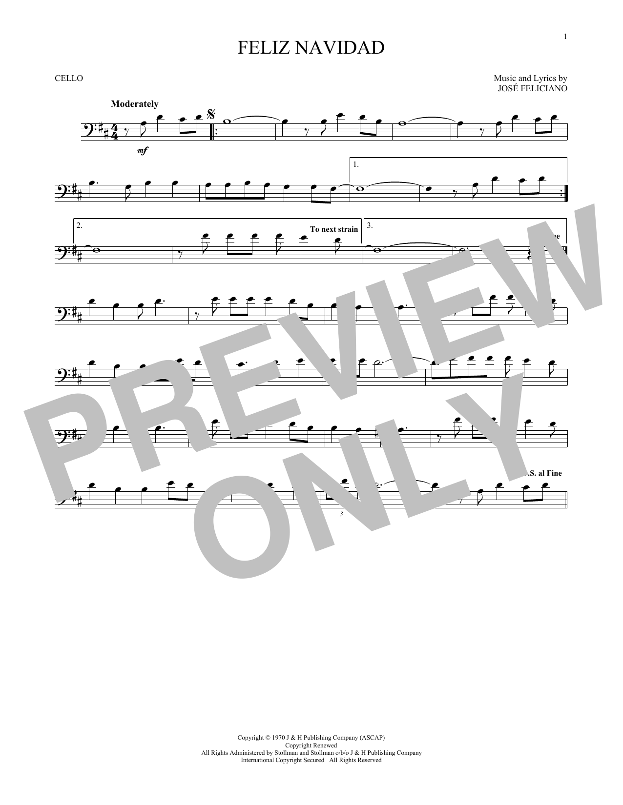 Jose Feliciano Feliz Navidad Sheet Music Notes Chords Printable