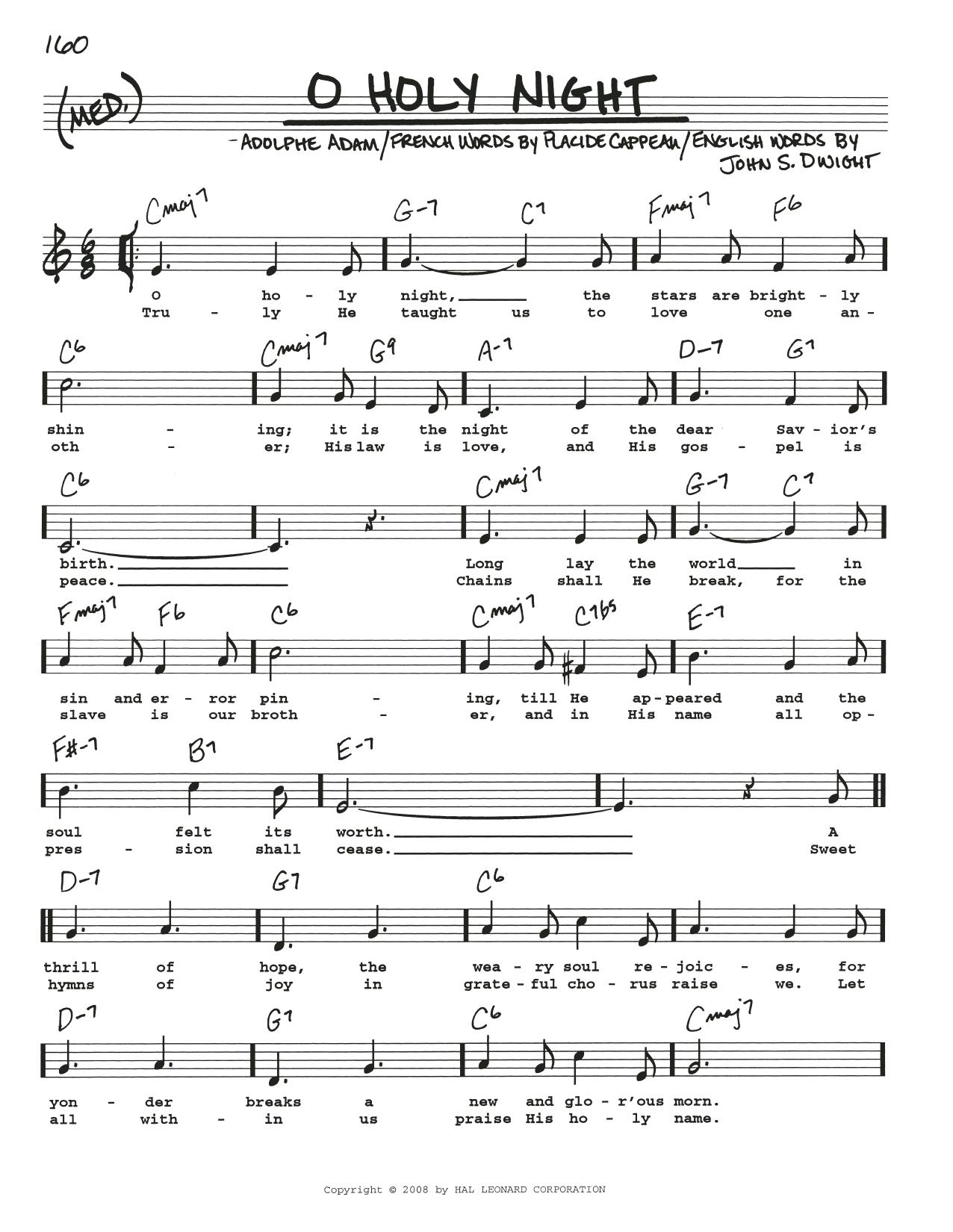 Adolphe Adam O Holy Night Sheet Music Notes Chords Printable