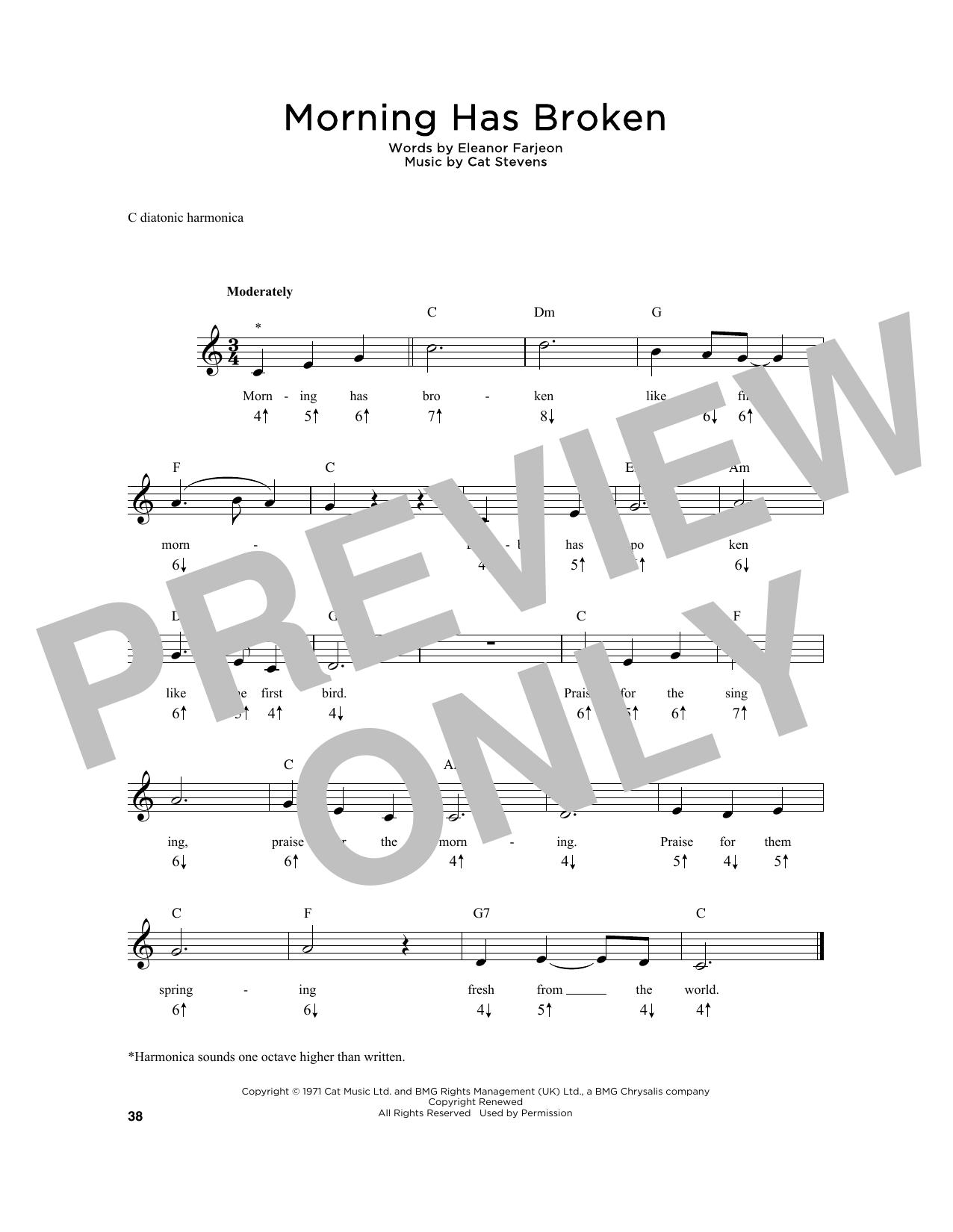 Cat Stevens Morning Has Broken Sheet Music Notes Chords