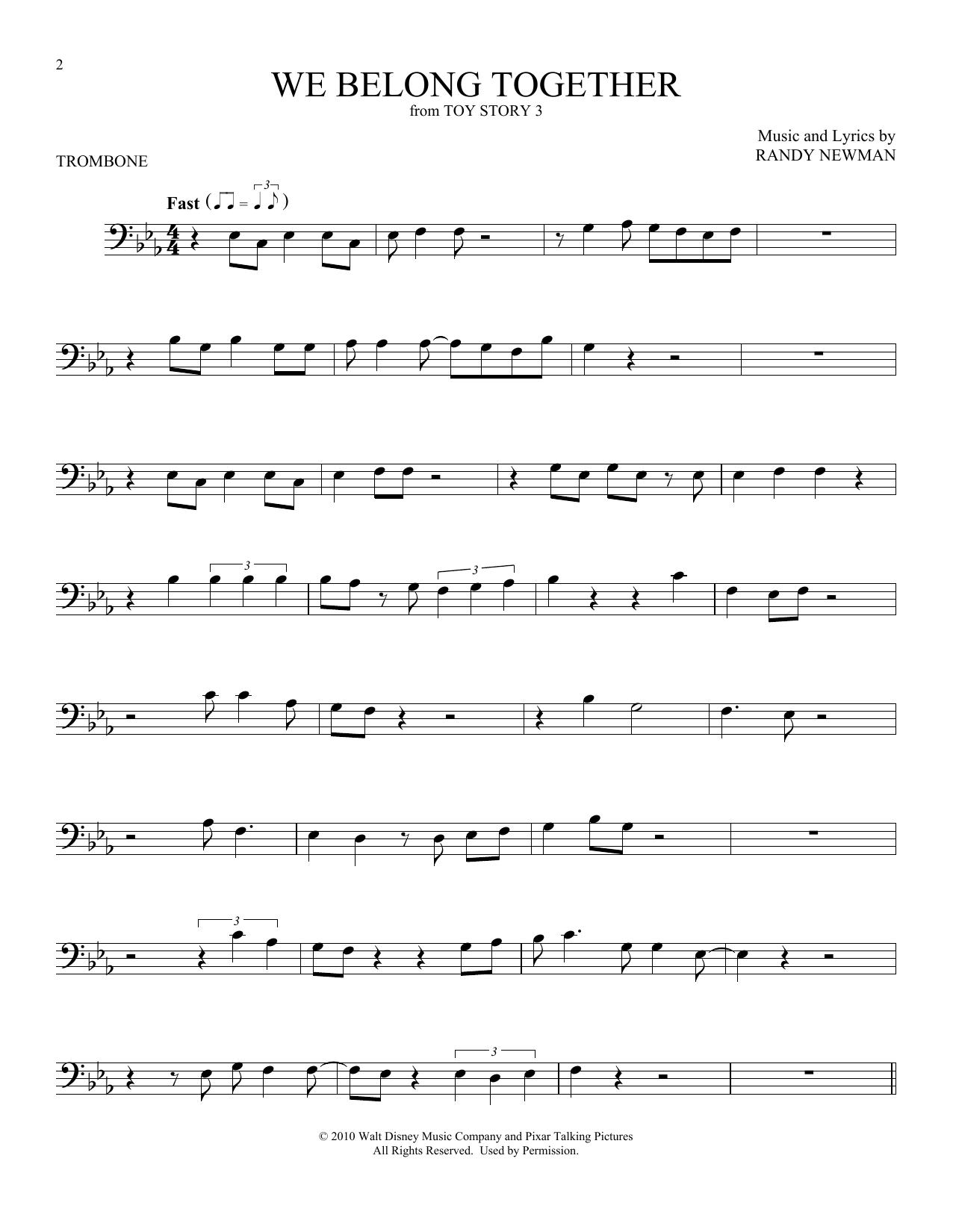Randy Newman We Belong Together Sheet Music Notes Chords