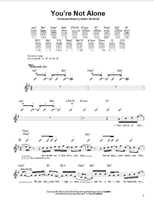 Boyz Ii Men Youre Not Alone Sheet Music Notes Chords Printable