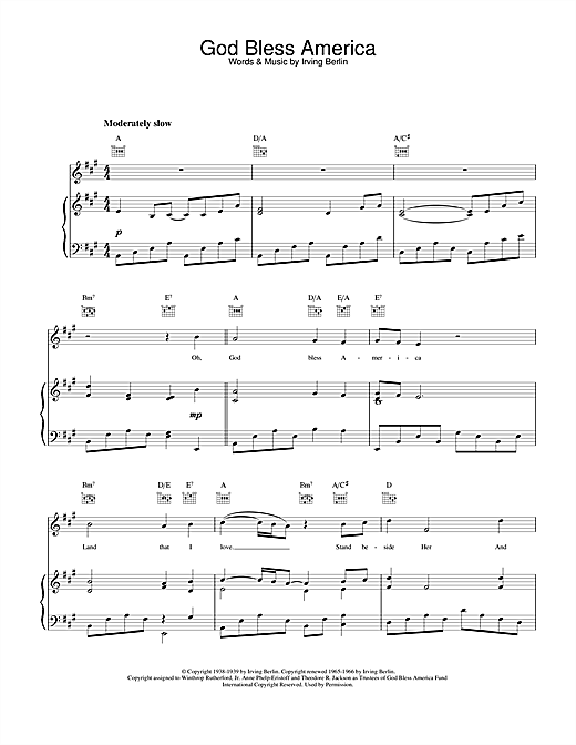 graphic relating to Free Printable God Bless America Sheet Music called Celine Dion God Bless The united states Sheet Audio Notes, Chords Down load Printable Piano, Vocal Guitar (Straight-Hand Melody) - SKU: 22185