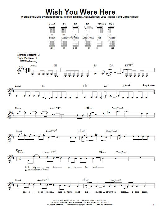 "Delta goodrem ""wish you were here"" sheet music in b minor."