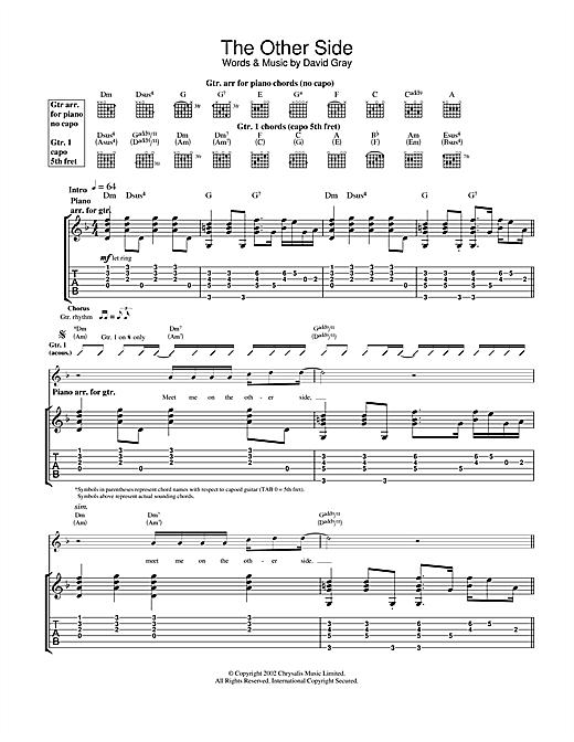 david gray chords