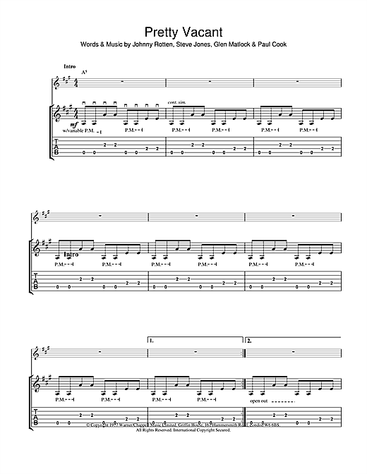Секс пистолс аккорды