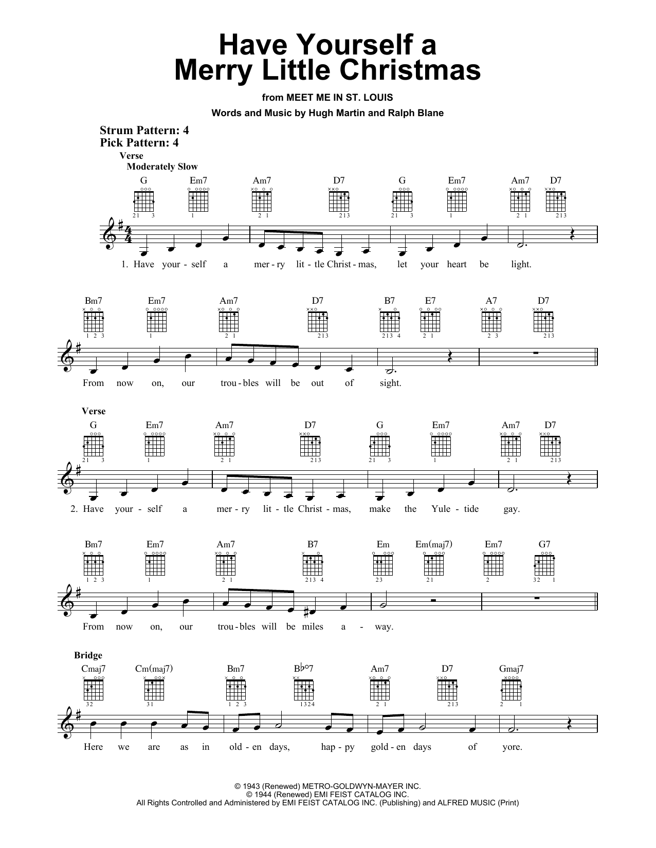 Have Yourself A Merry Little Christmas Piano Music.Ralph Blane Have Yourself A Merry Little Christmas Sheet Music Notes Chords Download Printable Easy Guitar Sku 250353