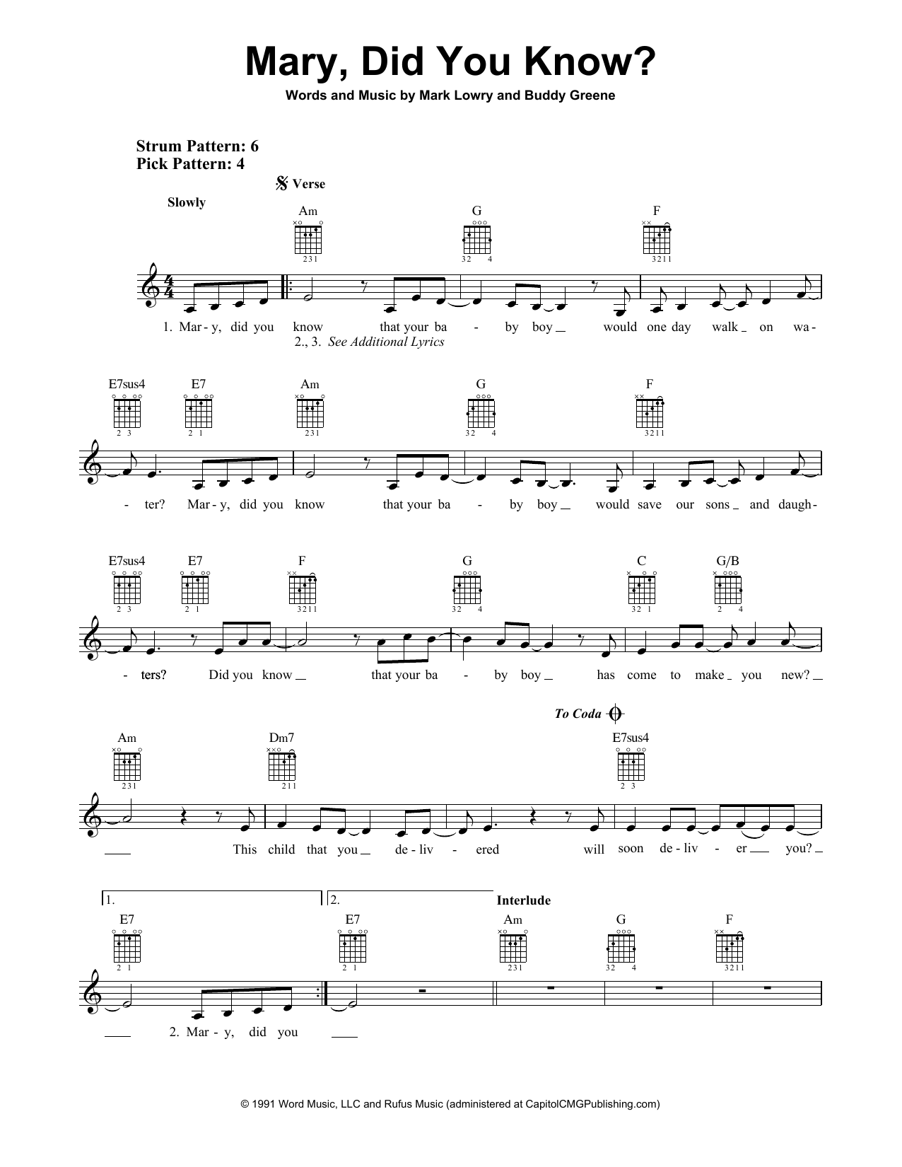 Kathy Mattea Mary Did You Know Sheet Music Notes Chords