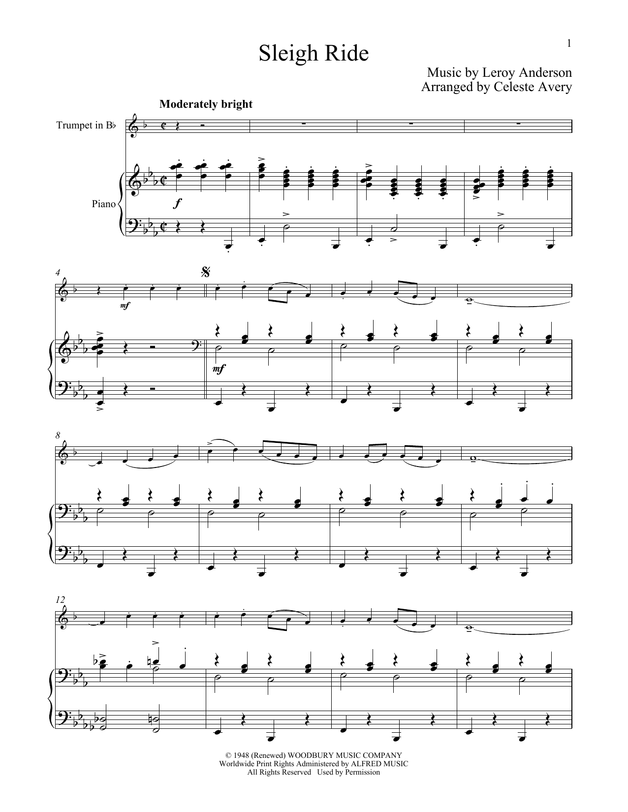 Mitchell Parish Sleigh Ride Sheet Music Notes Chords Printable