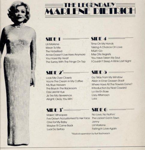 Marlene Dietrich, Look Me Over Closely, Melody Line, Lyrics & Chords