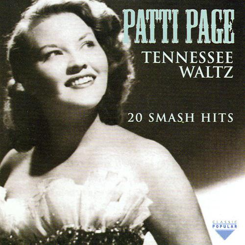 Patti Page, Tennessee Waltz, Piano, Vocal & Guitar (Right-Hand Melody)