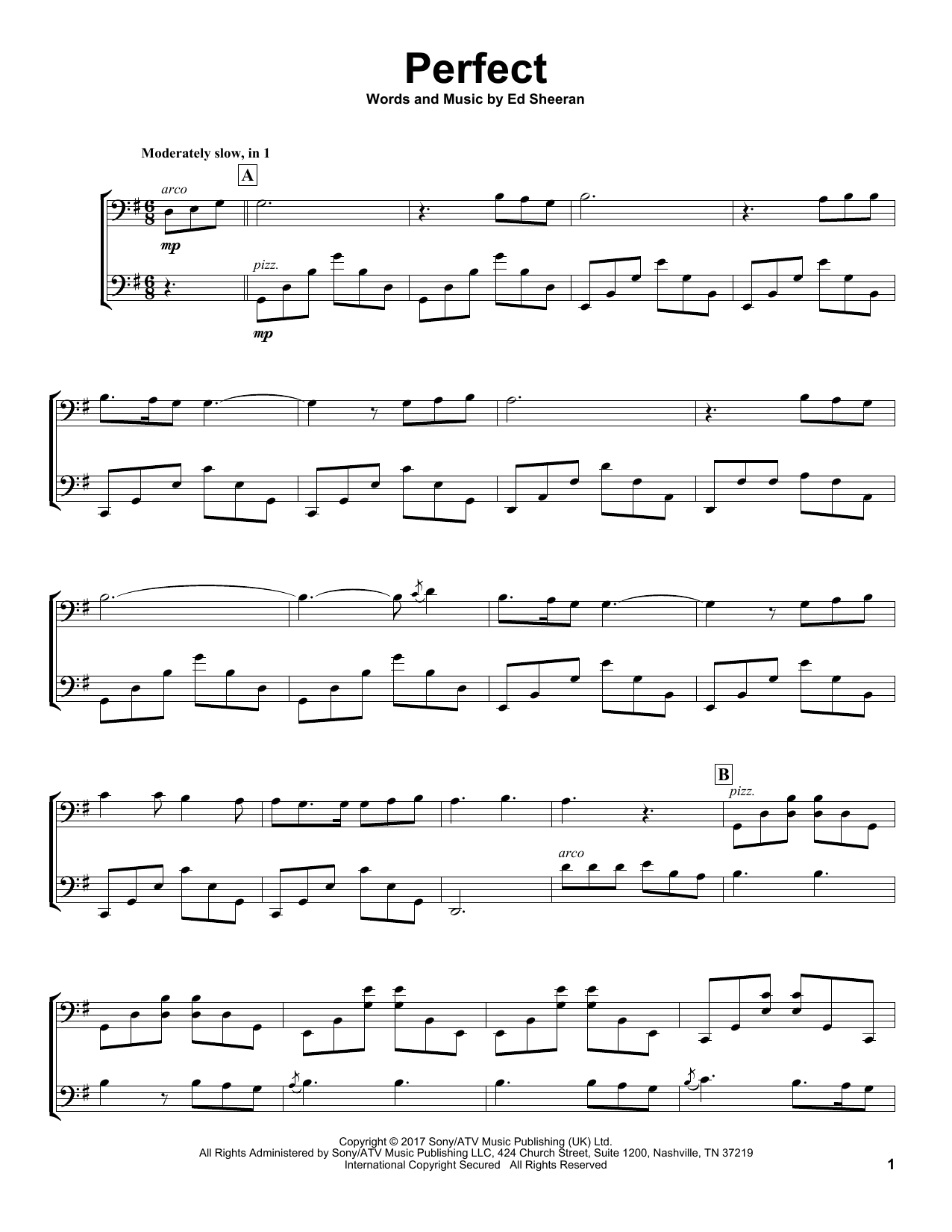 2Cellos Perfect sheet music notes and chords
