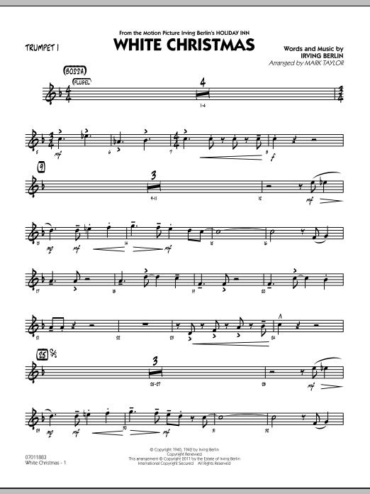 Mark Taylor 'White Christmas - Trumpet 1' Sheet Music Notes, Chords |  Download Printable Jazz Ensemble - SKU: 300739