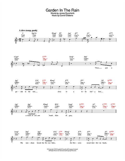Diana Krall Garden In The Rain Sheet Music Notes Chords
