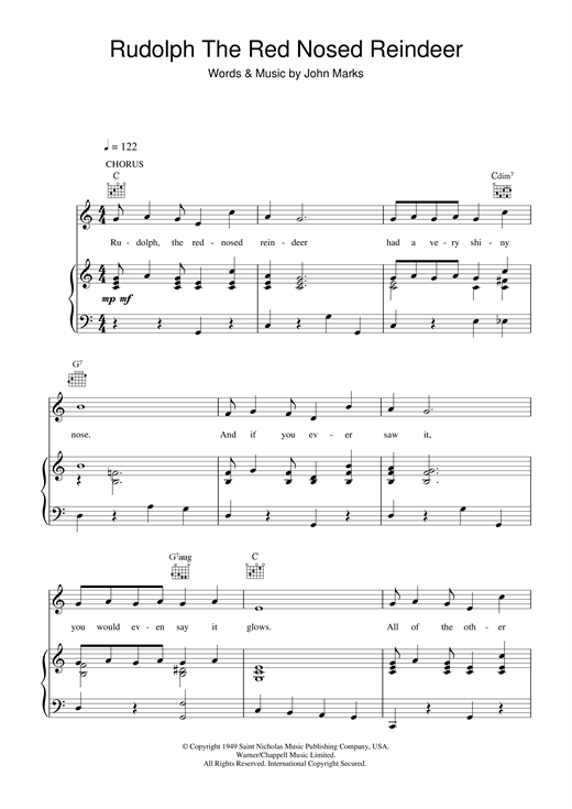 Perfect Guitar Chords Rudolph The Red Nosed Reindeer Inspiration ...