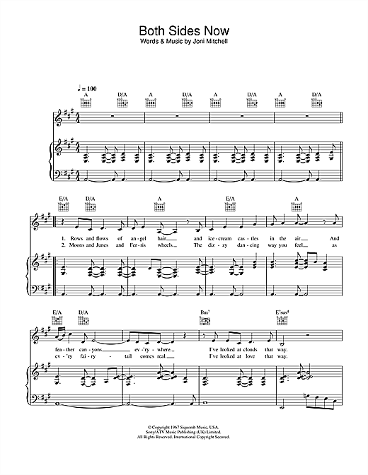 Hayley Westenra Both Sides Now Sheet Music Notes Chords
