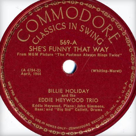 Richard A. Whiting, She's Funny That Way, Piano, Vocal & Guitar (Right-Hand Melody)
