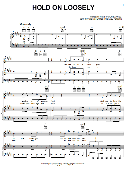 38 Special Hold On Loosely sheet music notes and chords. Download Printable PDF.