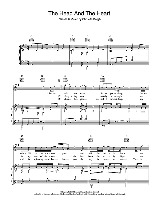 Chris de burgh the head and the heart sheet music notes chords chris de burgh the head and the heart sheet music notes chords printable rock piano vocal guitar right hand melody download pdf 39398 ccuart Image collections
