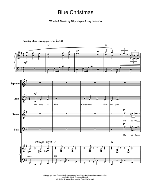 sheet music piano notes chords guitar tabs score transpose transcribe - Blue Christmas Guitar Chords