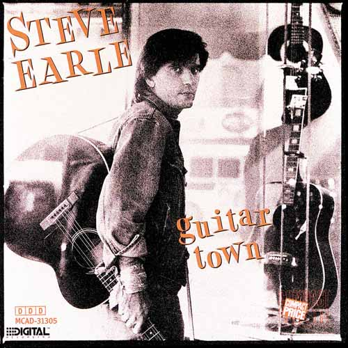 Steve Earle, Guitar Town, Piano, Vocal & Guitar (Right-Hand Melody)