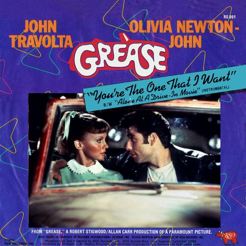 Olivia Newton-John and John Travolta, You're The One That I Want (from Grease), Piano, Vocal & Guitar