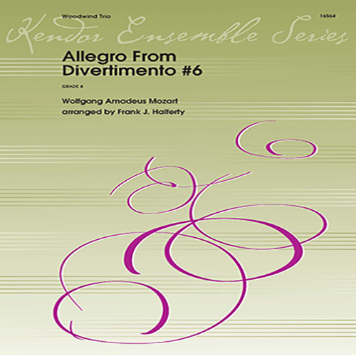 Wolfgang Mozart, Allegro From Divertimento #6 (arr. Frank Halferty) - Full Score, Woodwind Ensemble